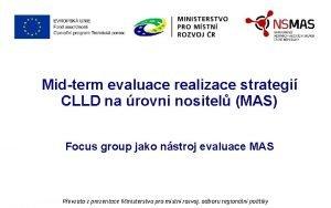 Midterm evaluace realizace strategi CLLD na rovni nositel