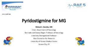 www rrnmf com Pyridostigmine for MG Richard J