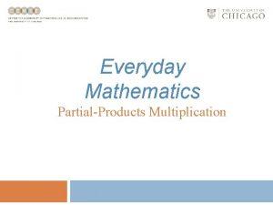 Everyday Mathematics PartialProducts Multiplication PartialProducts Multiplication Partialproducts multiplication