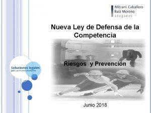 Nueva Ley de Defensa de la Competencia Riesgos