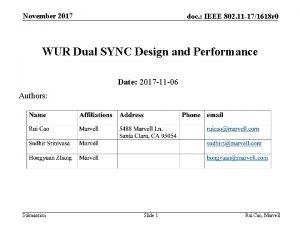 November 2017 doc IEEE 802 11 171618 r