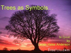Trees as Symbols Trees as Symbols in Speak