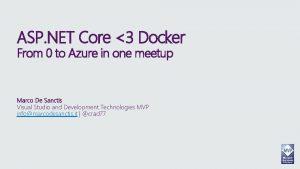 ASP NET Core 3 Docker From 0 to