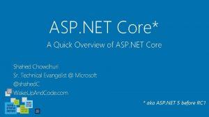 ASP NET Core A Quick Overview of ASP