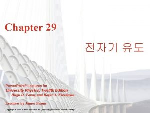 Chapter 29 Power Point Lectures for University Physics