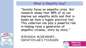 What is Empathy Day Society faces an empathy