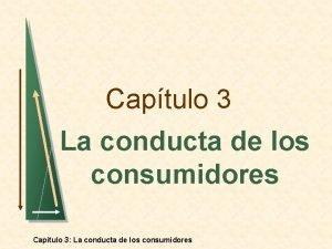 Captulo 3 La conducta de los consumidores Captulo