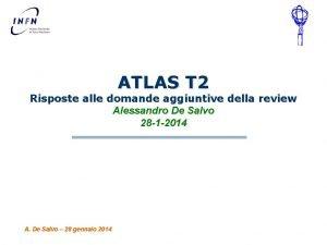 ATLAS T 2 Risposte alle domande aggiuntive della