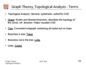 Graph Theory Topological Analysis Terms Topological Analysis General