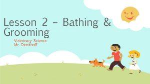 Lesson 2 Bathing Grooming Veterinary Science Mr Dieckhoff