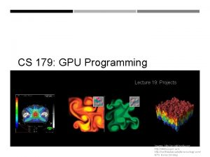 CS 179 GPU Programming Lecture 19 Projects Images