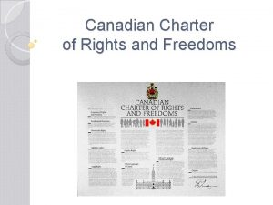 Canadian Charter of Rights and Freedoms Canada in