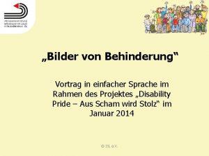 Bilder von Behinderung Vortrag in einfacher Sprache im