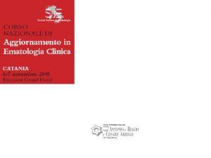 Il linfoma di Hodgkin resistente Alessandro Levis Linfoma