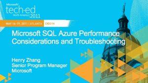 DBI 314 Logical Server SQL Azure Gateway Service