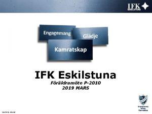 IFK Eskilstuna Frldramte P2010 2019 MARS Sensitivity Internal
