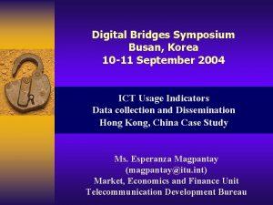 Digital Bridges Symposium Busan Korea 10 11 September