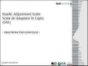Dyadic Adjustment Scale Scala de Adaptare n Cuplu