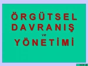 RGTSEL DAVRANI ve YNETM YNETM ile RGT birbirinden