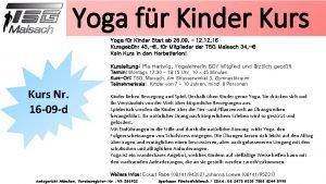 Yoga fr Kinder Kurs Yoga fr Kinder Start