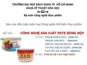 TRNG I HC BCH KHOA TP H CH
