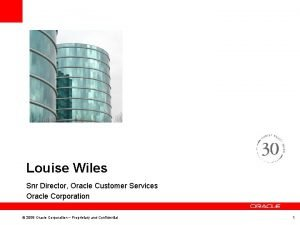 Louise Wiles Snr Director Oracle Customer Services Oracle