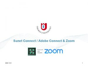 Sunet Connect Adobe Connect Zoom 2020 11 01