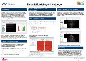 Binomialfordelinger i Net Logo Introduktion I et forlb