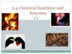 2 4 Chemical Reactions and Enzymes Chemical Reactions