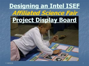 Designing an Intel ISEF Affiliated Science Fair Project