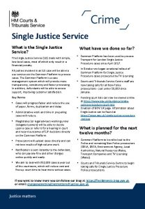 Single Justice Service What is the Single Justice