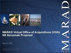 MARAD Virtual Office of Acquisitions VOA NS Savannah