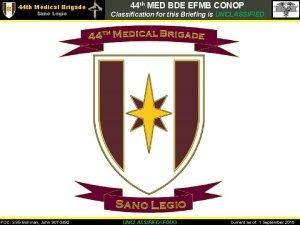 44 th Medical Brigade Sano Legio POC SSG