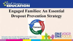 Engaged Families An Essential Dropout Prevention Strategy Information