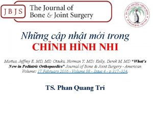 Nhng cp nht mi trong CHNH HNH NHI