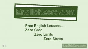 English Zero com Free English Lessons Zero Cost