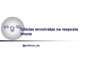 Clulas envolvidas na resposta imune professorleo Clulas envolvidas