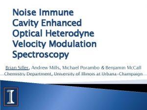 Noise Immune Cavity Enhanced Optical Heterodyne Velocity Modulation