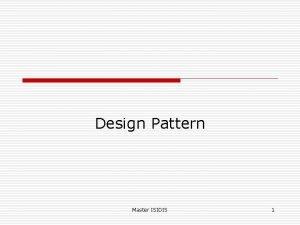 Design Pattern Master ISIDIS 1 Observer Listener o