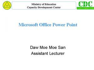 Ministry of Education Capacity Development Center Microsoft Office