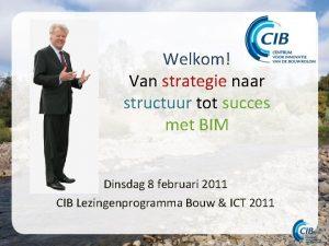 Welkom Van strategie naar structuur tot succes met