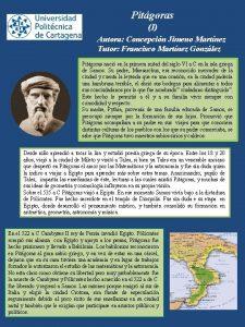 Pitgoras I Autora Concepcin Jimeno Martnez Tutor Francisco