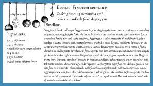 Recipe Focaccia semplice Cooking time 15 18 minuti