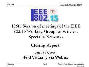 July 2020 doc IEEE 802 15 20 0200