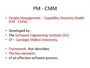 PM CMM People Management Capability Maturity Model PM
