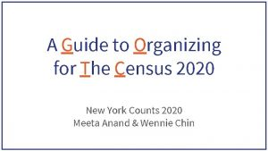 A Guide to Organizing for The Census 2020