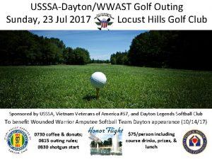 USSSADaytonWWAST Golf Outing Sunday 23 Jul 2017 Locust