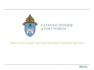 Catholic Schools Insights Notre Dame Elementary Notre Dame