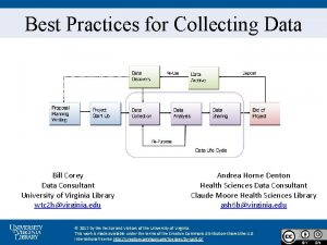 Best Practices for Collecting Data Bill Corey Data