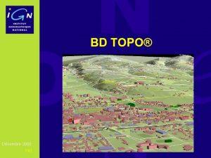 BD TOPO Dcembre 2008 142 BD TOPO Standard